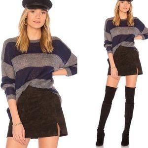 Sundry Blue Grey Mohair Wool Sweater